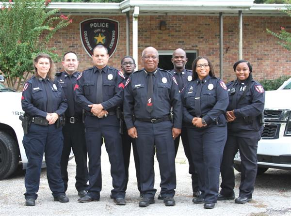 Photo of the COCISD Police Department officers and Chief